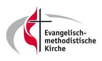 """Evangelisch-methodistische Kirche - Logo """"Kreuz mit Flamme"""""""